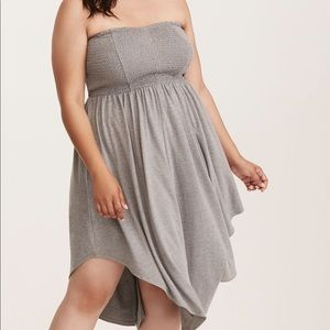 Nwt Torrid Size 4 grey jersey tube dress